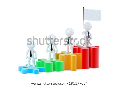 personas · pie · gráfico · de · barras · diferente · negocios · fondo - foto stock © kirill_m