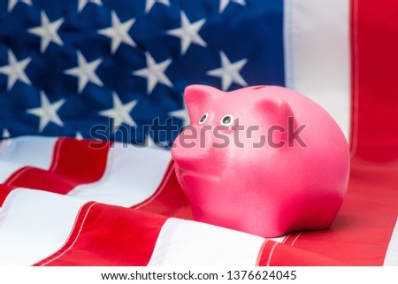 piggy rich bank in colors flag of american state of california   Stock photo © vepar5