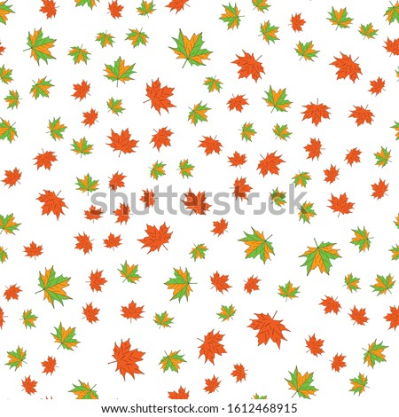 seamless background with leaves leaf fall stock photo © elenapro