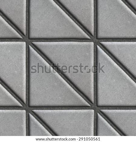 Gray Paving Slabs in the Form Square of a Triangle, Laid Diagonal. Stock photo © tashatuvango