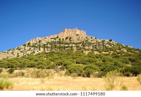 Castle and Convent of Calatrava la Nueva in Spain Stock photo © backyardproductions