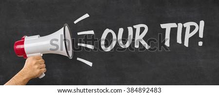 男 メガホン 先端 にログイン ヘルプ ストックフォト © Zerbor