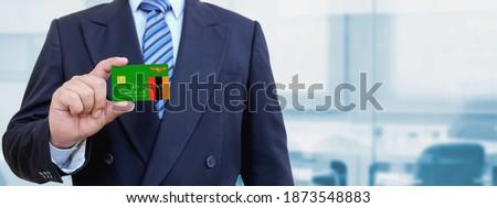 Hitelkártya Zambia zászló bank prezentációk üzlet Stock fotó © tkacchuk