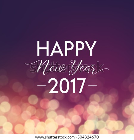 Stock photo: beautiful purple background for 2017 new year celebration with f