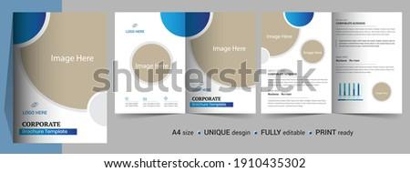 Moderno società brochure modello layout business Foto d'archivio © SArts
