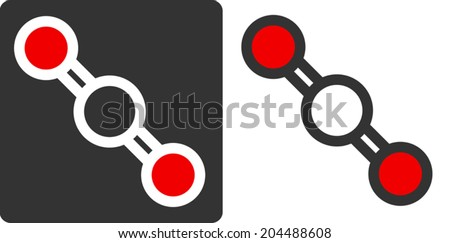 Illustration of Carbon Dioxide Molecule isolated grey background Stock photo © tussik