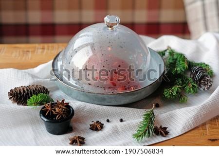 肉 ガラス 野菜 蒸気 ランチ 時間 ストックフォト © Yatsenko