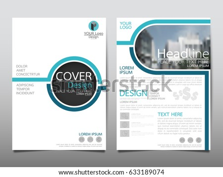 clean geometric blue brochure template design for annual report Stock photo © SArts
