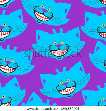 Chat sourire modèle texture fantastique animal Photo stock © popaukropa