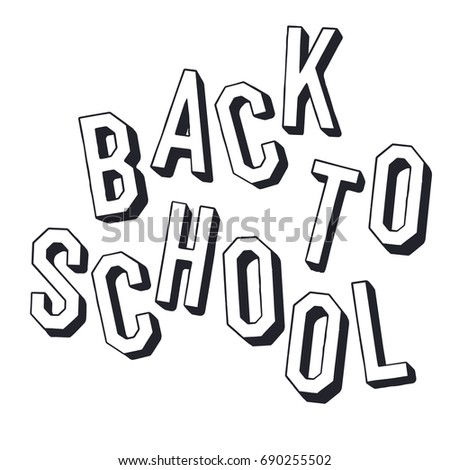Back to school. Shadowed letters typographic. Minimalistic holid Stock photo © pashabo