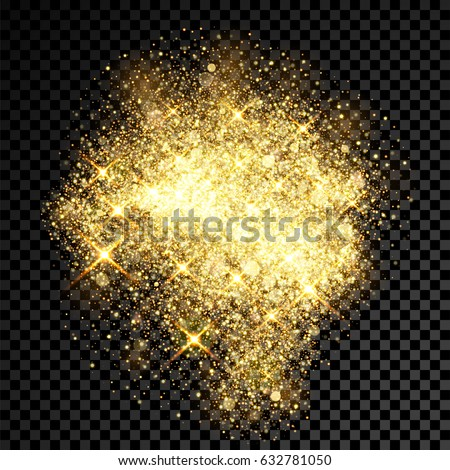 gold glitter cloud or shining particles explosion texture luxury golden sparkles effect vector dar stock photo © pikepicture