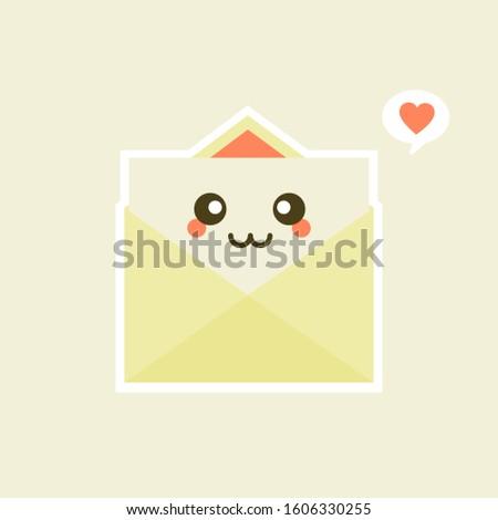 postal envelope letter emotions emoticons set isolated on white stock photo © rogistok