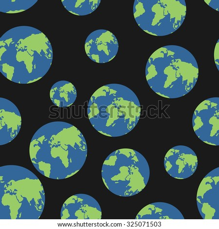 Stock photo: Continents seamless pattern. World map is endless ornament. Geog
