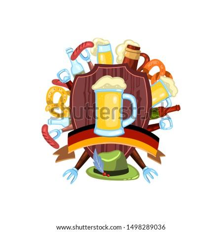 Kabát karok Oktoberfest zászló Németország bögre Stock fotó © popaukropa