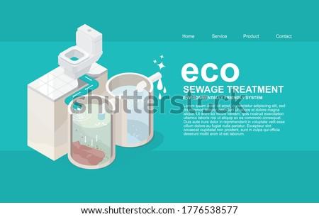 Stockfoto: Rioolwater · toilet · kom · riool · vector · water