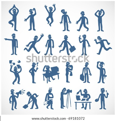 Businessman set of movements. boss set poses. Manager man expres Stock photo © popaukropa