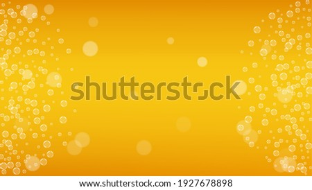 Oktoberfest vector illustration with fresh lager beer on wood texture background. Celebration banner Stock photo © articular