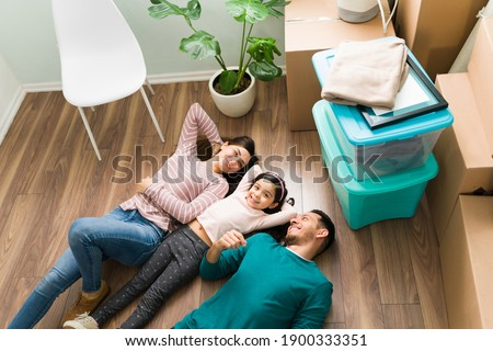 Image from above of young woman and little kid taking pleasure w Stock photo © deandrobot