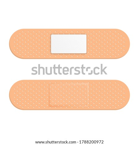 Medical plaster isolated on white background. Vector illustratio Stock photo © popaukropa