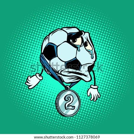 futebol · cara · desenho · animado · vetor · imagem · futebol - foto stock © rogistok