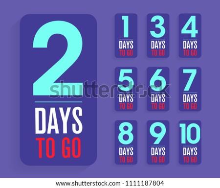 number of days left sticker or label badge design Stock photo © SArts