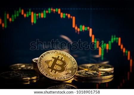 роста осень bitcoin графа виртуальный деньги Сток-фото © popaukropa