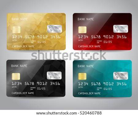 вектора реалистичный черный кредитных карт аннотация геометрический Сток-фото © Iaroslava