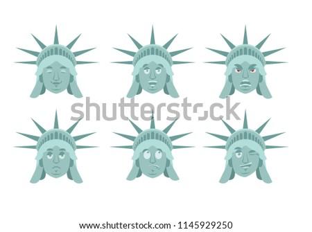 Estátua liberdade emoção conjunto agressivo bom Foto stock © popaukropa