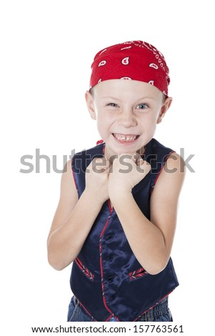 a funny boy dressed as pirate stock photo © acidgrey