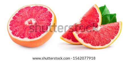 Dwa dojrzały grejpfrut różowy refleksji cień Zdjęcia stock © artjazz