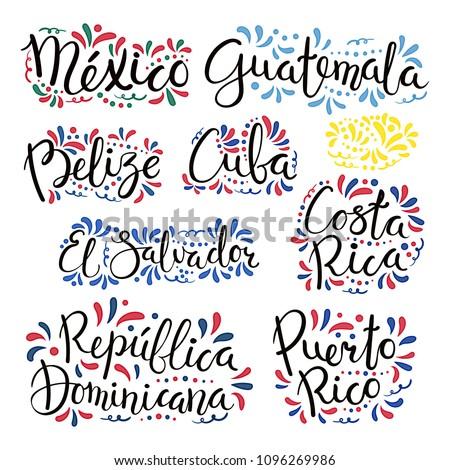 Dibujado a mano bandera Costa Rica aislado blanco vector Foto stock © garumna