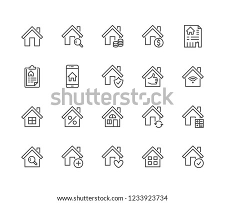 logo house for sale rental or home ownership vector illustration Stock photo © konturvid