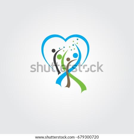 vida · saudável · logotipo · modelo · diversão · pessoas · ícone - foto stock © gothappy