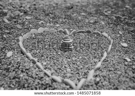 serca · miłości · kamienie · kształt · serca · słowo - zdjęcia stock © lunamarina