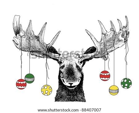 面白い · クリスマスツリー · 孤立した · 白 - ストックフォト © Lady-Luck