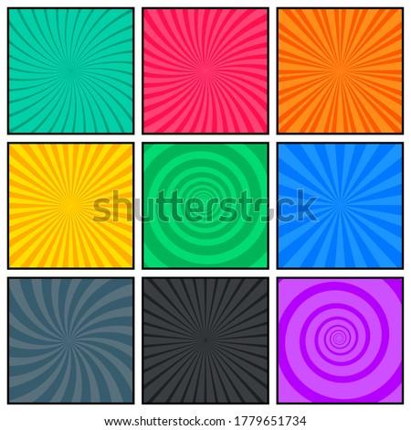 Boş sayfa şablon rays yarım ton Stok fotoğraf © SArts