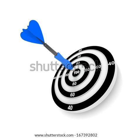 arrow and dartboard on white background. Isolated 3D illustratio Stock photo © ISerg