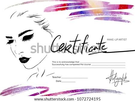сертификата визажист образование макияж школы девушки Сток-фото © ikopylov