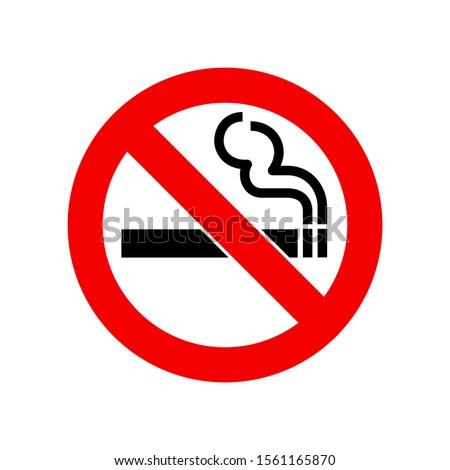 No smoking sign. Vector illustration isolated on white backgroun Stock photo © kyryloff