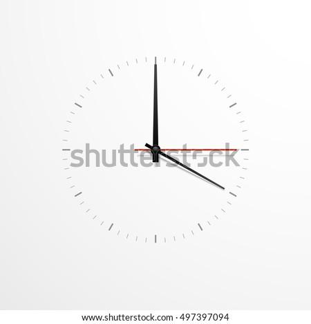 witte · klok · ontwerp · geïsoleerd · klaar · icon - stockfoto © kyryloff