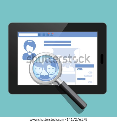 your social public profile is under surveillance   social page a stock photo © winner