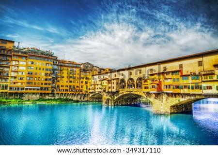 görmek · taş · köprü · nehir · Floransa · Toskana - stok fotoğraf © xbrchx