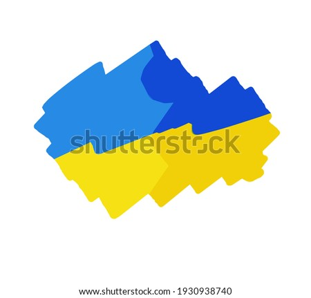 Ukrainian flag brush style background with stripes. Vector illustration isolated on white background Stock photo © kyryloff
