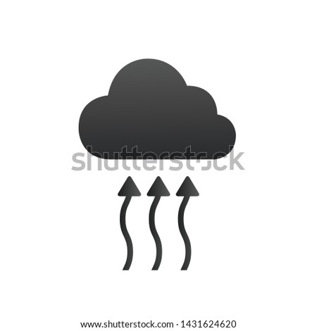 The water cycle concept icon. Water arrows goes up creating the cloud. Vector illustration isolated  Stock photo © kyryloff