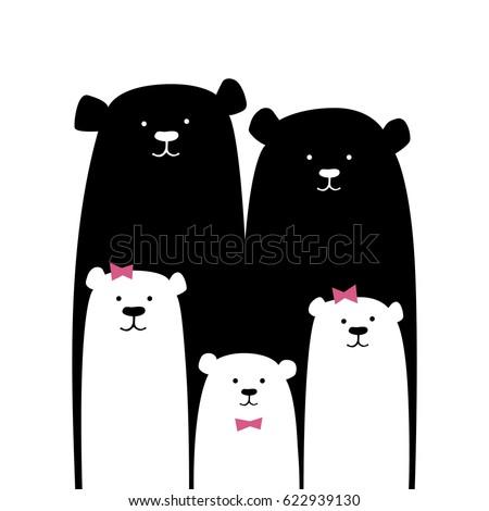 Orso polare cute orso set madre Foto d'archivio © marish