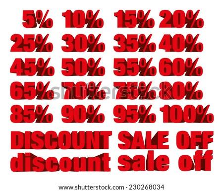 procent · witte · geïsoleerd · 3d · illustration · geld · winkelen - stockfoto © iserg
