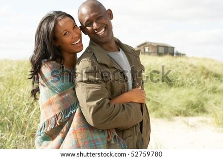 Stok fotoğraf: Romantik · ayakta · plaj · kulübe · mesafe · adam