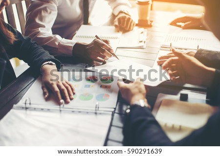 Groep zakenlieden teamwerk vergadering ontwerp ideeën Stockfoto © Freedomz