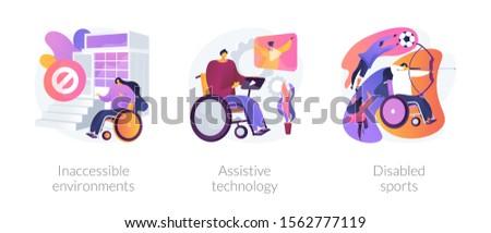 Inaccessible environments concept vector illustration Stock photo © RAStudio