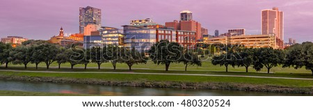 Fort Worth skyline, Texas - panorama of Fort Worth, downtown vie Stock photo © Winner